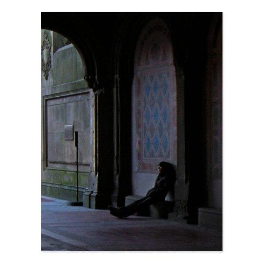 Postal El esperar en la terraza de Bethesda