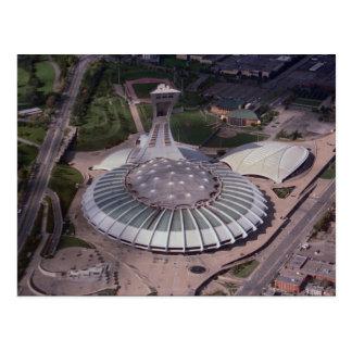 Postal El estadio Olímpico, Montreal, Quebec, Canadá