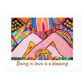 Postal El estar en amor es una bendición