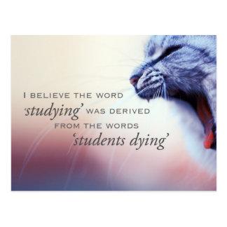 Postal El estudiar