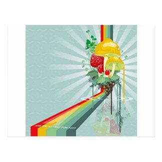Postal El extracto colorea el arco iris creciente