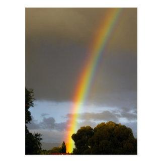 Postal El extremo del arco iris