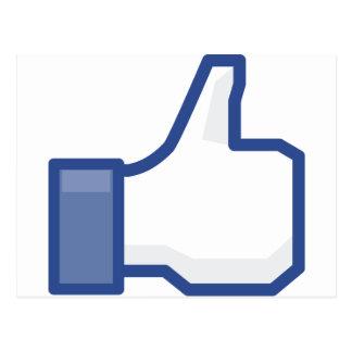 Postal ¡el facebook TIENE GUSTO de mí de manosear con los