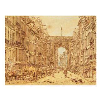 Postal El Faubourg y el Porte Santo-Denis, 1801