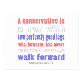 Postal El FDR define a conservadores