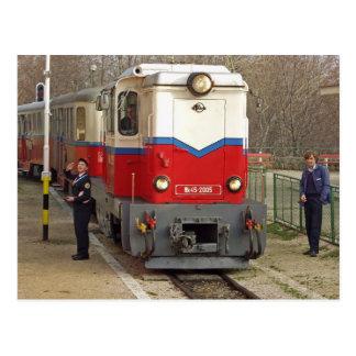 Postal El ferrocarril de los niños, Budapest