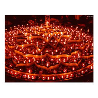 Postal El festival de luces en la India