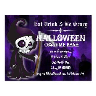 Postal El fiesta severo de Lil Halloween invita a la