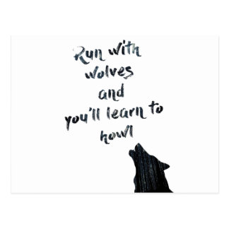 Postal El funcionamiento con los lobos y usted aprenderá