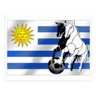 Postal El futbol 2010 de Charruas del fútbol de Uruguay