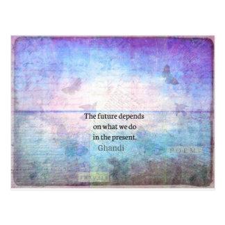 Postal El futuro depende de lo que hacemos en el presente