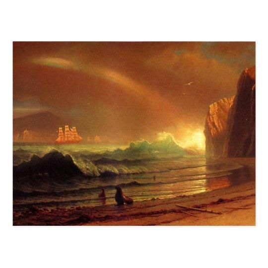 Postal El Golden Gate de Albert Bierstadt