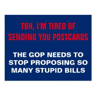 Postal El GOP necesita parar el proponer que las cuentas