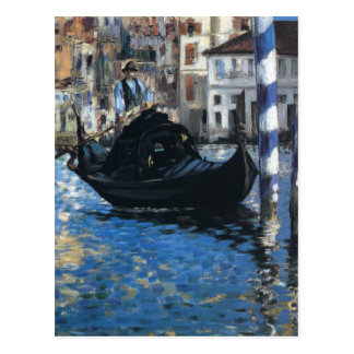 Postal El Gran Canal de Venecia (Venecia azul) por