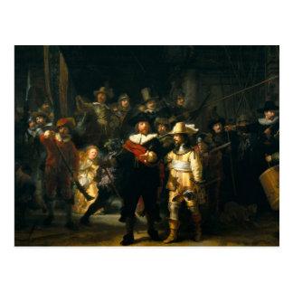 Postal El guardia nocturna - Rembrandt