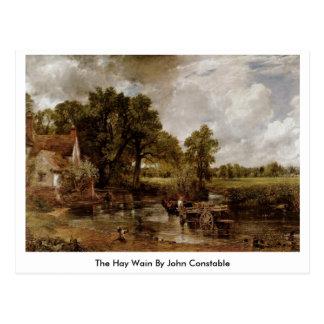 Postal El heno Wain de John Constable
