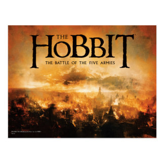 Postal El Hobbit: La BATALLA del logotipo de CINCO