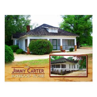Postal El hogar de la adolescencia de Jimmy Carter,