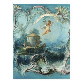 Postal El hogar encantado de Francois Boucher