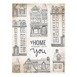 Postal El hogar es dondequiera que esté con usted