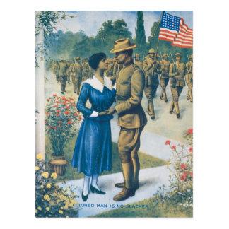 Postal El hombre coloreado de la Primera Guerra Mundial