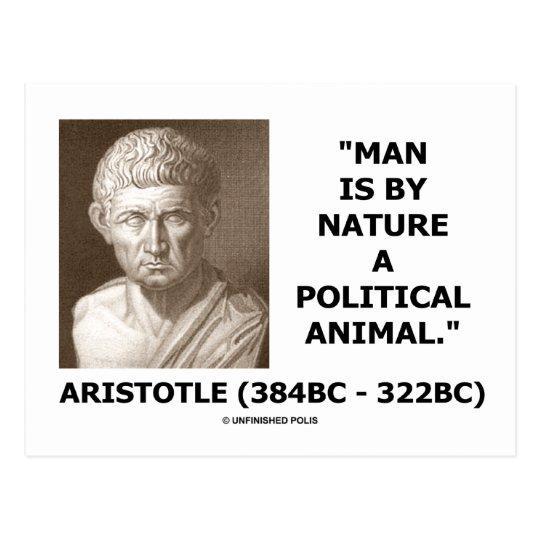 Postal El hombre es al lado de naturaleza un animal