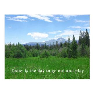 Postal El hoy es el día a salir y a jugar