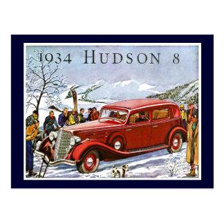 Postal El Hudson 1934 8 - anuncio del vintage