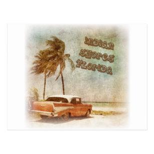 Postal El indio del vintage apuntala escena de la playa