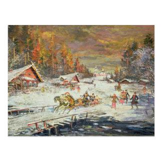 Postal El invierno ruso, 1900-10