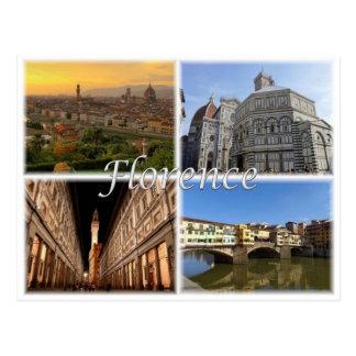 Postal ÉL Italia - Florencia Firenze -