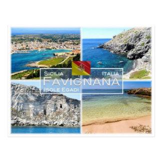 Postal ÉL Italia - Sicilia - Isole Egadi - Favignana -