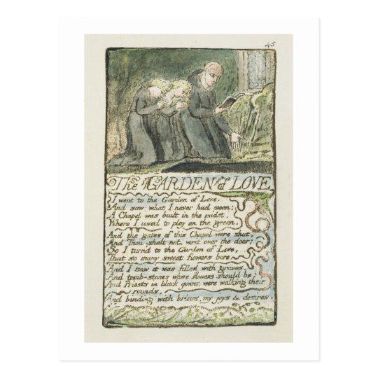 """Postal """"El jardín del amor"""", platea 45 (Bentley 44) de '"""