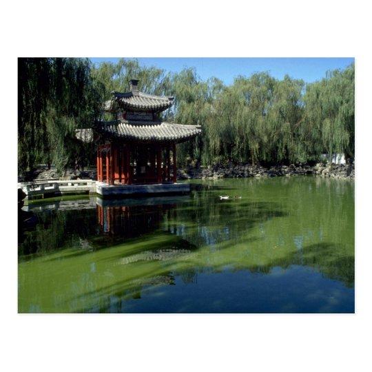 """Postal El jardín """"del sueño de cámaras rojas"""", Pekín"""
