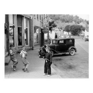 Postal El juego de niño en Wisconsin, los años 30