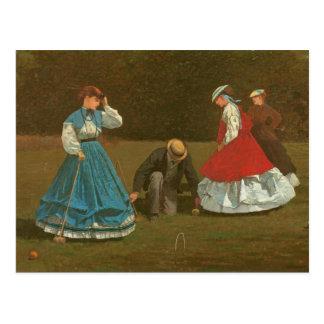 Postal El juego del croquet, 1866 (aceite en lona)
