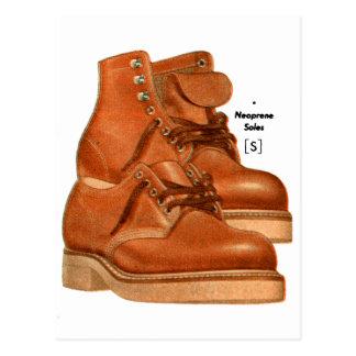 Postal El kitsch retro del vintage calza el neopreno de
