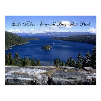 Postal El lago Tahoe - parque de estado esmeralda de la