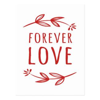 Postal El laurel rojo, blanco floral del amor sale del