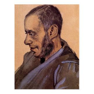Postal El librero Blok de Vincent van Gogh