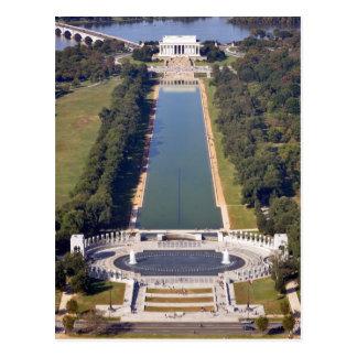 Postal El Lincoln memorial y el monumento de la Segunda