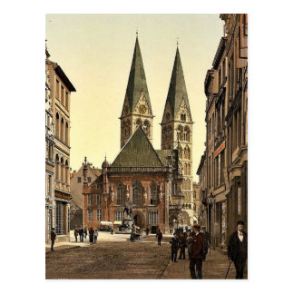 Postal El lugar de Guillermo del emperador, Bremen,