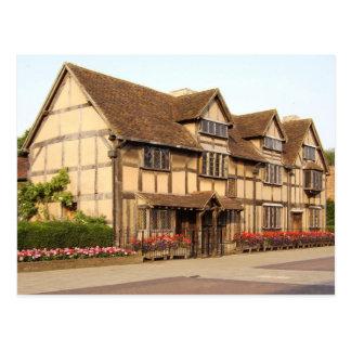 Postal El lugar de nacimiento de Shakespeare,
