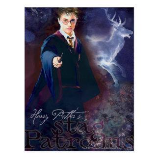 Postal El macho Patronus de Harry Potter