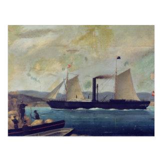 """Postal El """"Mallorcan"""", nave en el cual George Sand y Cho"""