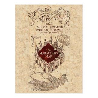 Postal El mapa del merodeador del encanto el | de Harry