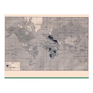 Postal El mapa del vintage, 1920, primera guerra mundial,