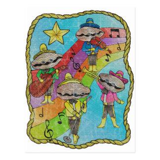 Postal El Mariachi de la ostra congriega color