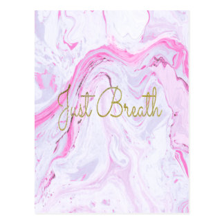 Postal El mármol rosado apenas respira diseño
