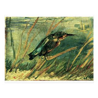 Postal El martín pescador de Vincent van Gogh